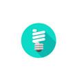 light bulb icon flat cartoon vector image vector image