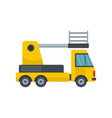 lorry platform icon flat style vector image vector image