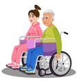 man woman disabled white medical people vector image vector image