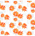 marguerite daisy seamless pattern vector image vector image