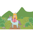 medieval princess cartoon design vector image