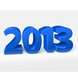 New year 2013 shiny 3d blue vector | Price: 1 Credit (USD $1)