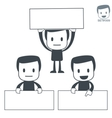 placard icon man set vector image