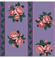 red rose line seamless background vector image