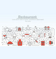 Restaurant service advertising concept flat