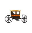 retro carriage antique vehicle vector image