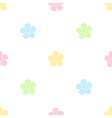 Seamless pastel floral pattern vector image vector image