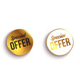 set color special offer buttons or badges vector image