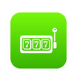 slots icon green vector image