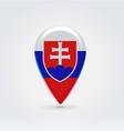 Slovakian icon point for map vector image vector image