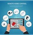 smart house and internet of things concept vector image
