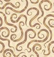 spirals sand seamless pattern vector image vector image