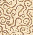spirals sand seamless pattern vector image
