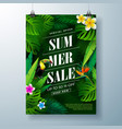 summer sale poster design template with flower vector image vector image