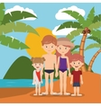 summer vacations in family design vector image vector image
