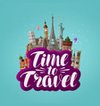 time to travel banner journey traveling around vector image vector image