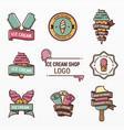 variety ice cream logo set vector image vector image