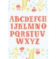 vintage alphabet font vector image vector image