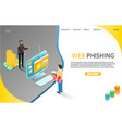 web phishing landing page website template vector image