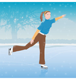 woman skating vector image