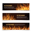 Hot fire advertisement horizontal banners vector image
