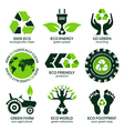 eco label and symbol set vector image