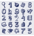 25 sketch education icons vector image