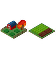 3d design for farmyard and barn vector image