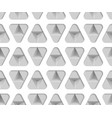 3d monochrome paper triangles seamless pattern vector image vector image