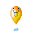 3d realistic colorful balloon with face in some vector image