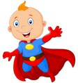 915Super hero boy posing vector image vector image