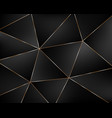 abstract black geometric background from triangles vector image vector image