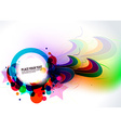 abstract colorful banner design vector image vector image