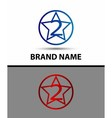 Abstract icons for number 2 logo vector image vector image