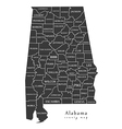 Alabama county map labels vector image vector image