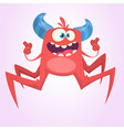 angry cartoon red spider monster vector image vector image