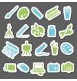 art stickers icon vector image vector image