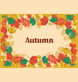 autumm leaves vintage vector image