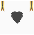 Beard flat icon vector image vector image