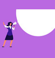 businesswoman with megaphone woman shouting in vector image vector image