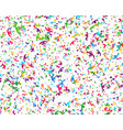 carnaval or festival confetti colorful pieces vector image