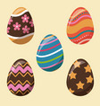 collection easter egg decoration party vector image vector image