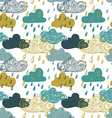 Colorful Seamless Pattern Of Rain Clouds vector image vector image