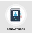 Contact book flat icon vector image vector image