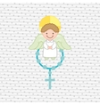 cute angels design vector image vector image
