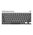 Cyrillic alphabet keyboard layout set - Isolated vector image