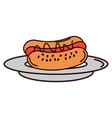 delicious hot dog icon vector image