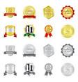 design of emblem and badge symbol vector image vector image