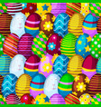 easter eggs seamless pattern background spring vector image