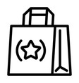 eco hand bag icon outline style vector image
